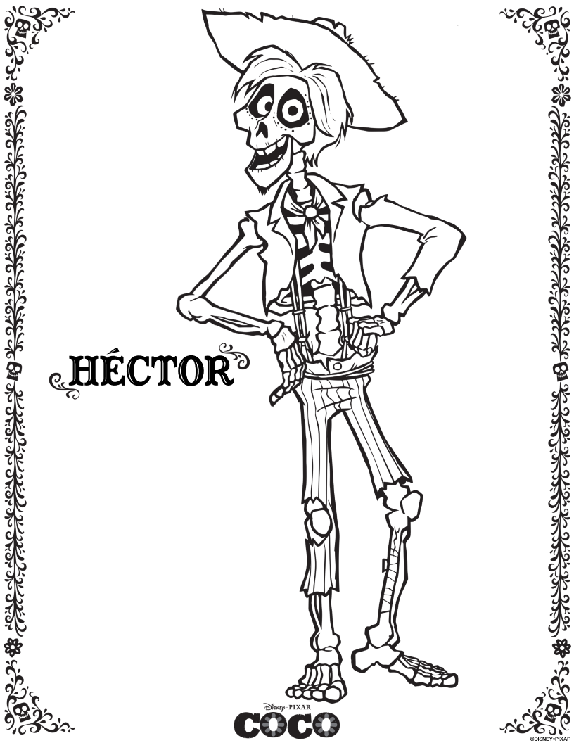 disney coco coloring pages Free Disney Pixar Coco Hector Coloring Page | Disney | Pinterest  disney coco coloring pages