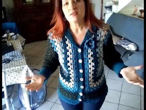 Giacca Cardigan Granny Ogni Taglia Tutorial Uncinetto Youtube