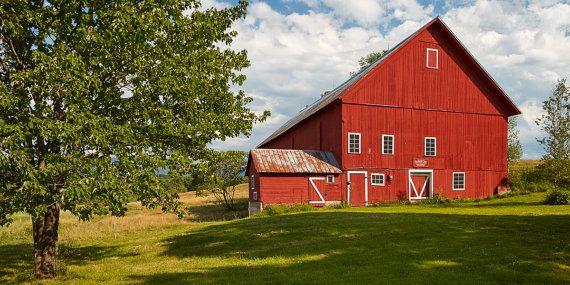 Spear Red Barn - Stowe Farm Vermont 1850 Stonybrook Green