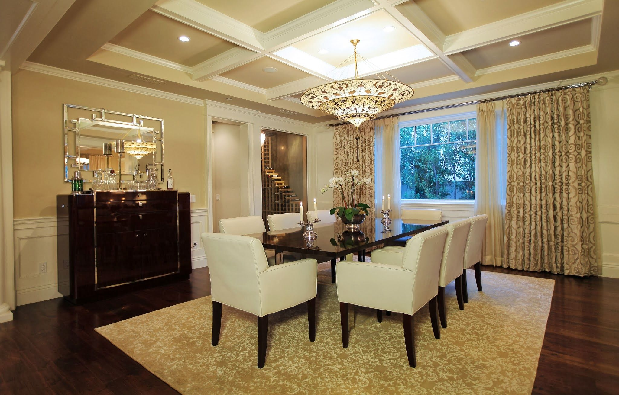Top ceiling designs for dining room with ideas gorgeous for Stunning dining rooms