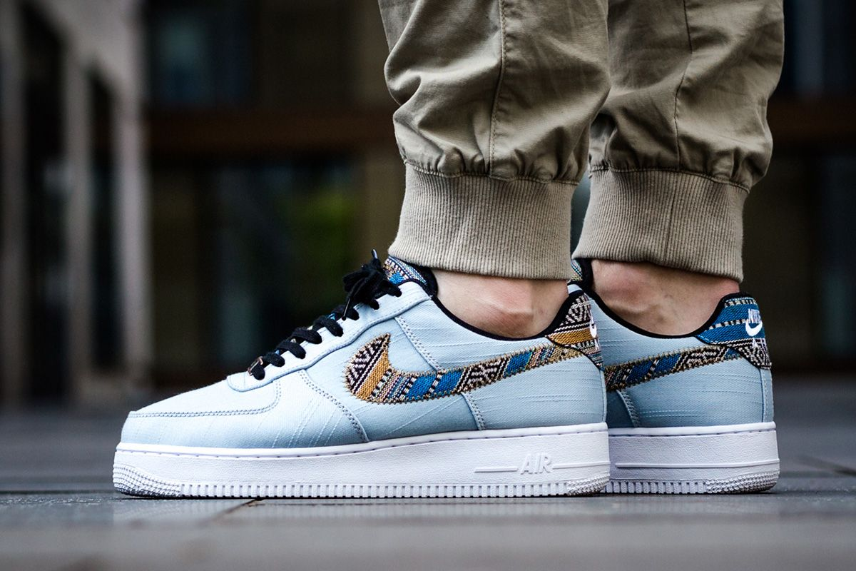 Nike Air Force 1 07 Lv8 Light Armory Blue Afro Punk Pack Og Eukicks Sneaker Magazine Sneakers Nike Best Sneakers