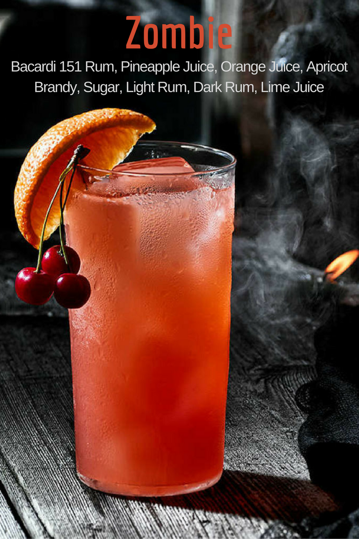 Zombie Recipe Alcohol Drink Recipes Tropical Drink Recipes Halloween Cocktails