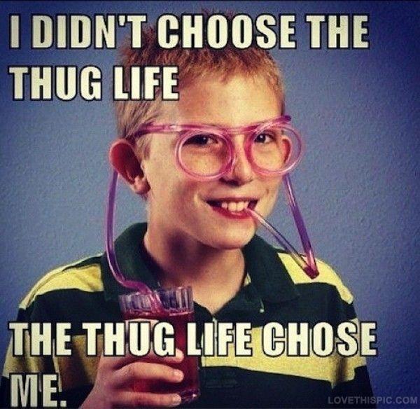 The Thug Life Chose Me Funny Memes Meme Funny Quotes Humor Funny Pictures Thug Life Thug Life Meme Thug Life Humor
