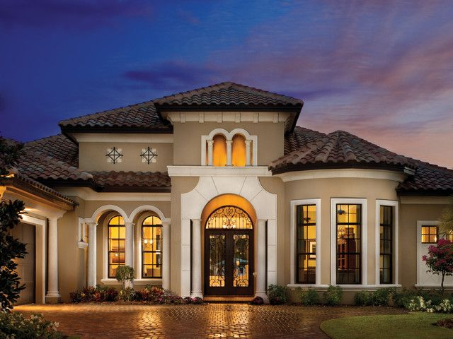 Modern exterior paint colors for houses stucco colors for Stucco stone exterior designs