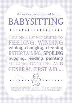 babysitting certificate templates