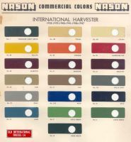 1938 To1947 International Harvester Truck Nason Commercial Colors International Harvester Truck International Harvester Trucks