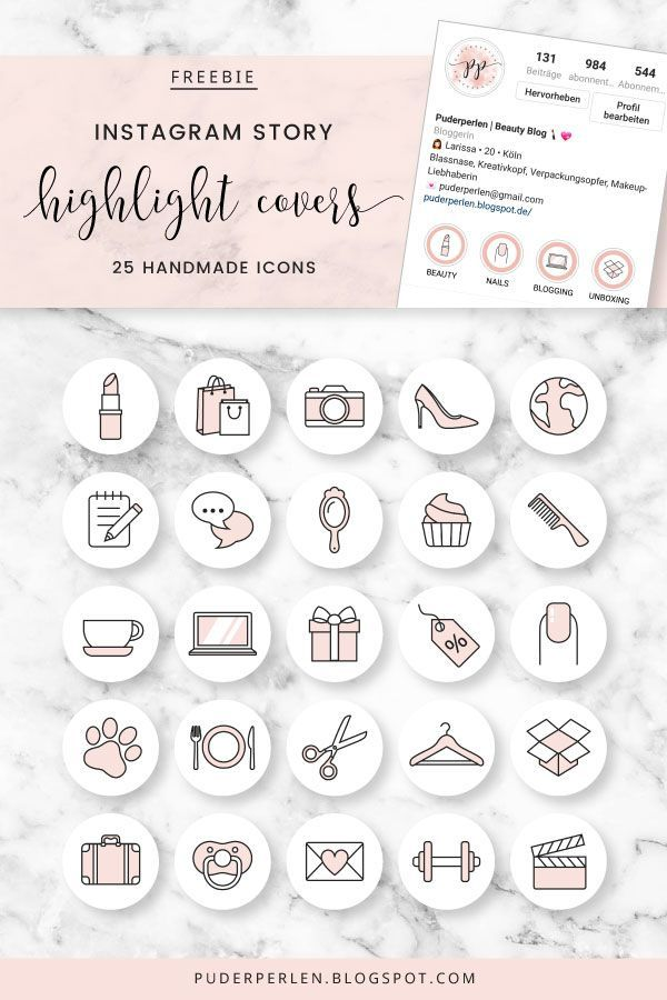 [Freebie] 25 Instagram Story Highlight Cover zum kostenlos Downloaden!