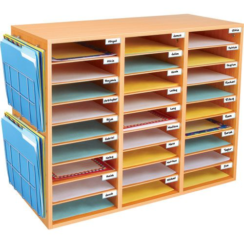 Really Good Classroom Mail Center With Paper Holders Classroom