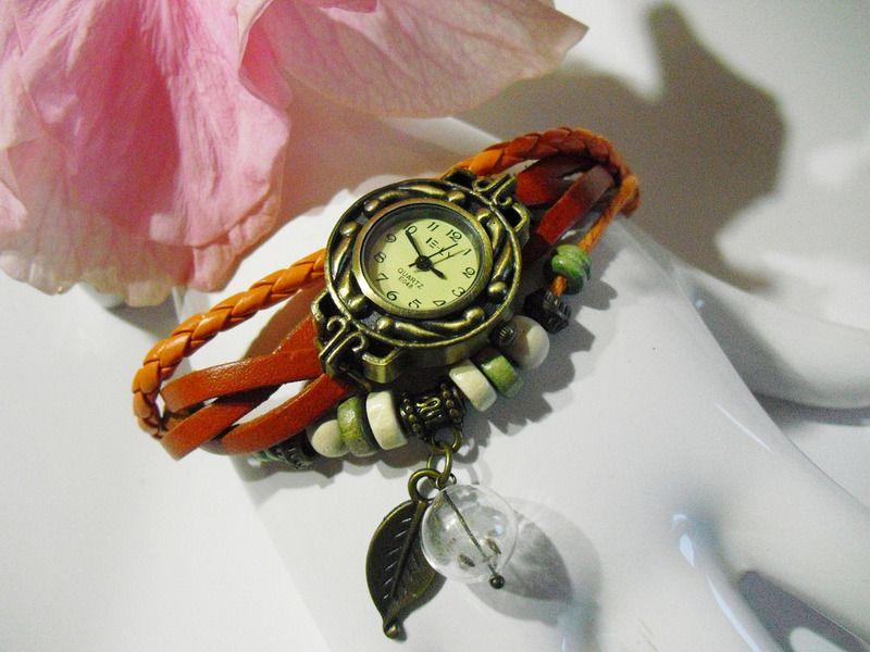 Wickelarmbanduhr von Flowerring auf DaWanda.com