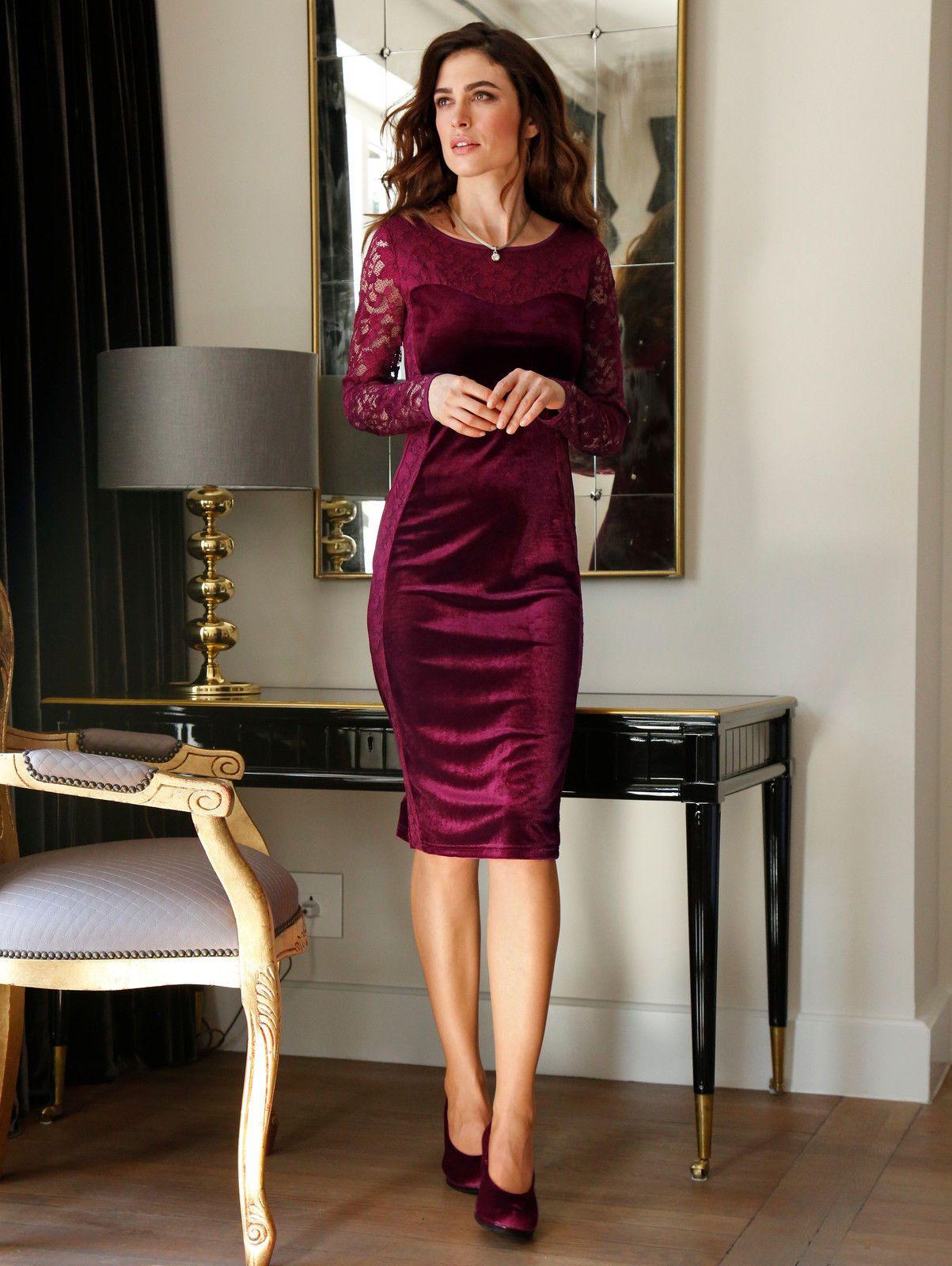 KLiNGEL Samtkleid in schmaler Form Neu | eBay