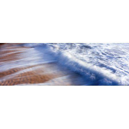 Receding waves across sand ripples on beach Cerritos Beach Baja California Sur Mexico Canvas Art - Panoramic Images (36 x 12)
