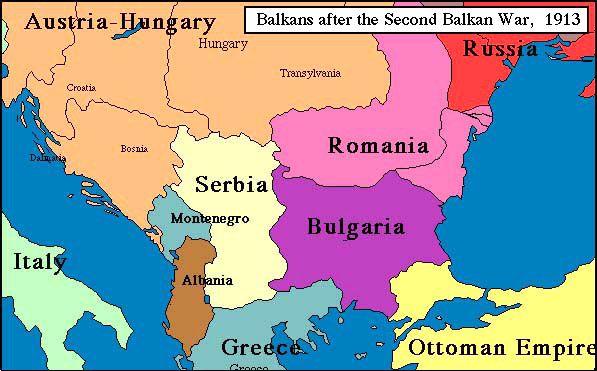 Balkans World Map