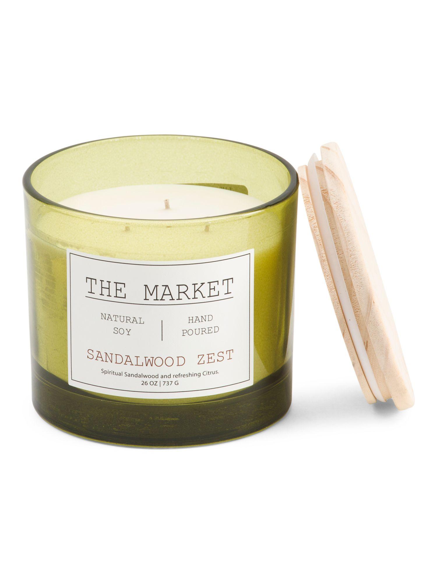 Made In Usa 26oz Sandalwood Zest Candle Candles Sandalwood Sandalwood Scent