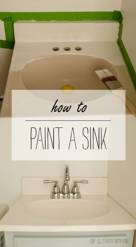 How To Paint A Sink Painting A Sink Painting Bathroom Diy Bathroom