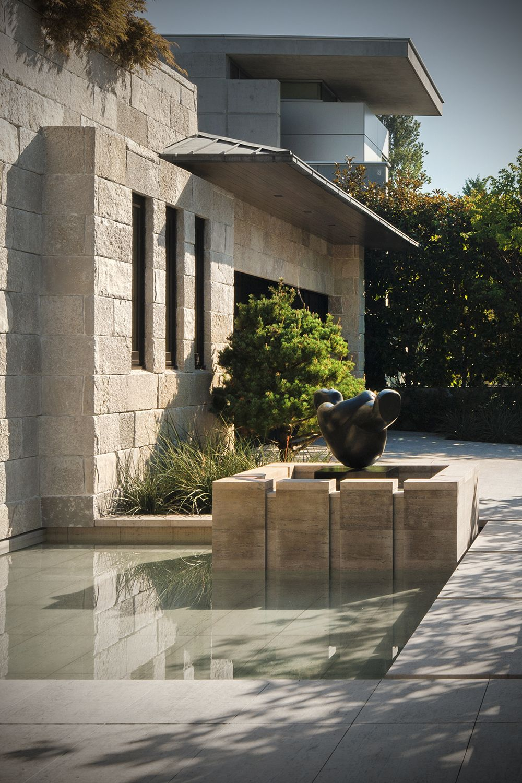 Front Porch Backyard Patio Pool Deck Railing Ideas Modern Stone Veneers Patio Stones Building Stone Luxury Landscaping