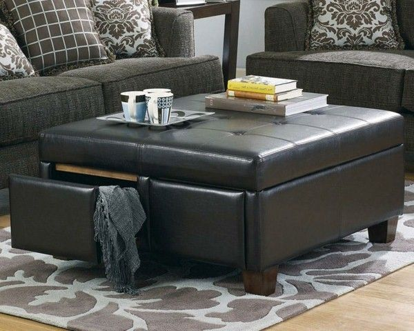 Debbie Travis Leather Ottoman/Coffee Table 179.99 at