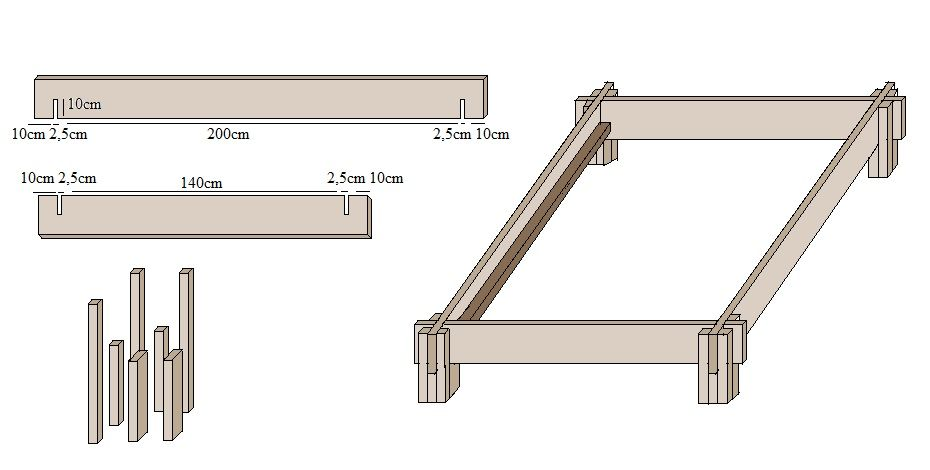bett selber bauen mit dieser anleitung zuk nftige projekte pinterest woodworking wood art. Black Bedroom Furniture Sets. Home Design Ideas