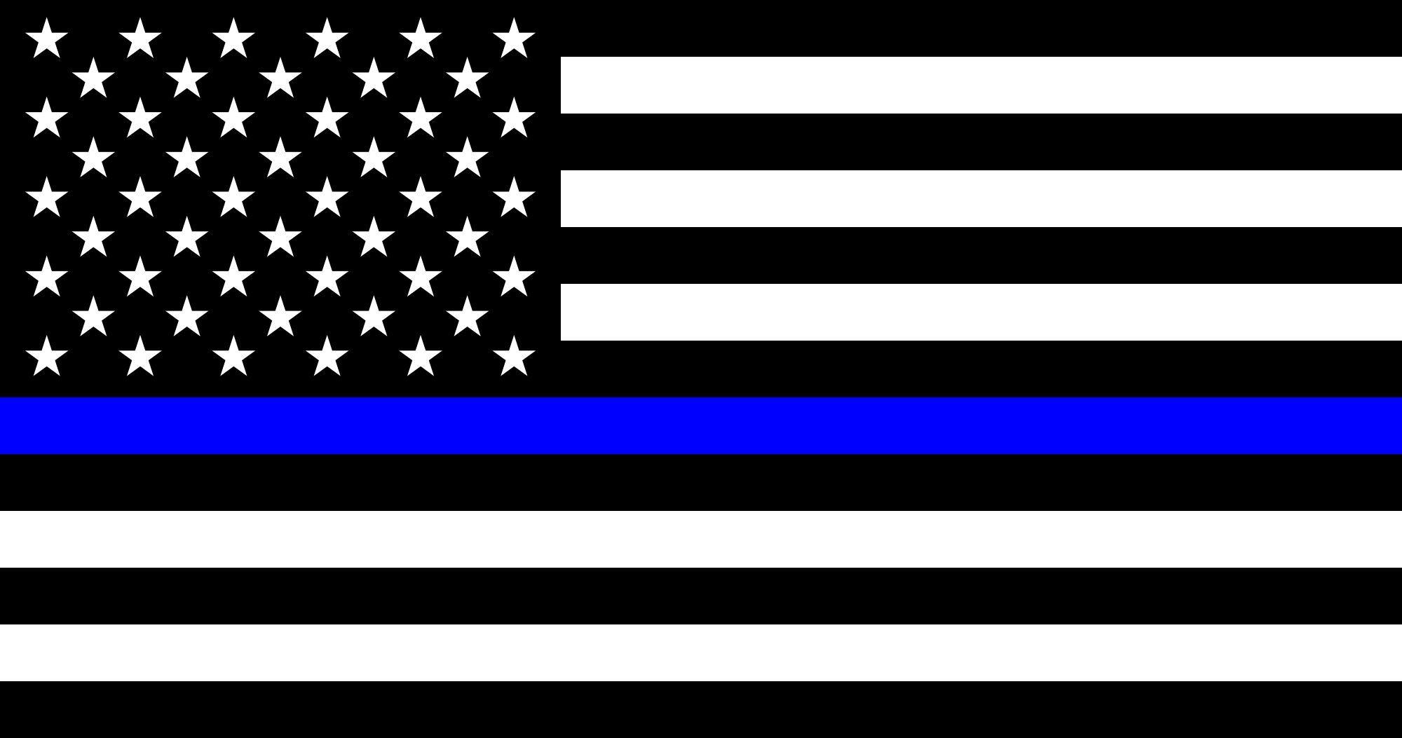 Blue Lives Matter - Police Thin Blue Line Flag - Sticker - 5\