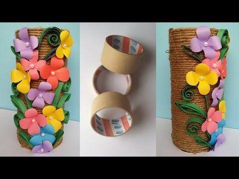 How To Make Best Out Of Waste Flower Vase Jutetwine Flower Vase