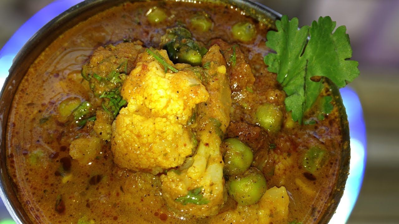 फ ल वर व ट ण मस ल भ ज Spicy Cauliflower Green Peas Curry Flower Vatana Masala Bhaji Youtube Spicy Cauliflower Bhaji Recipe Recipes In Marathi