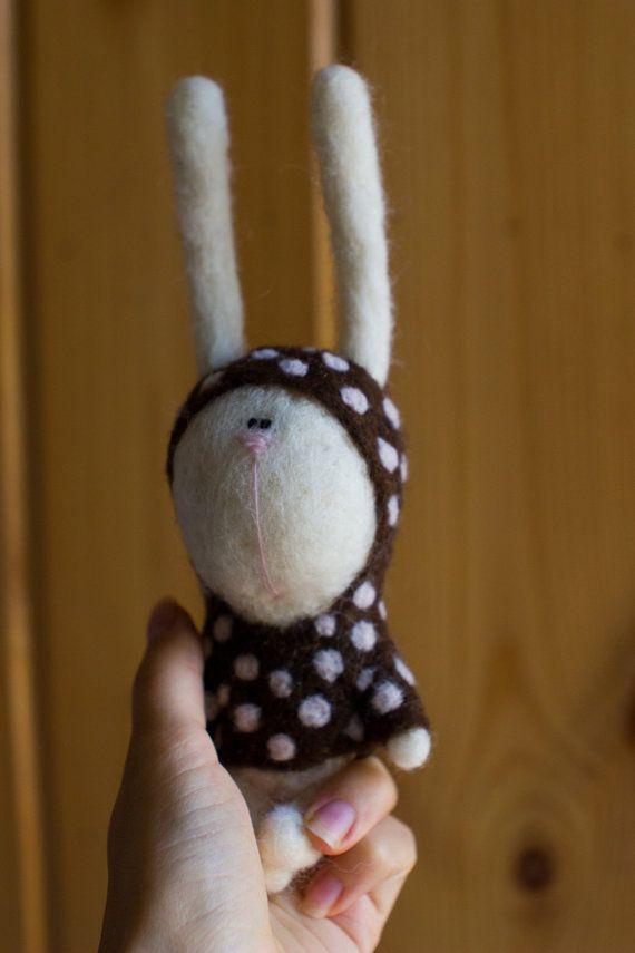 The little polka dots rabbit by tutseetoy on Etsy, $55.00