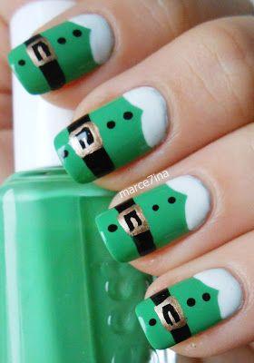 Green Santa Claus Nail Design Santa Claus Nail Art Design Ideas
