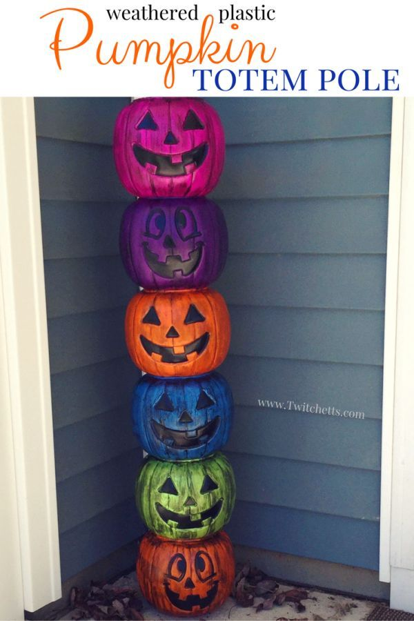 How to make a fun pumpkin totem pole perfect for Halloween Your