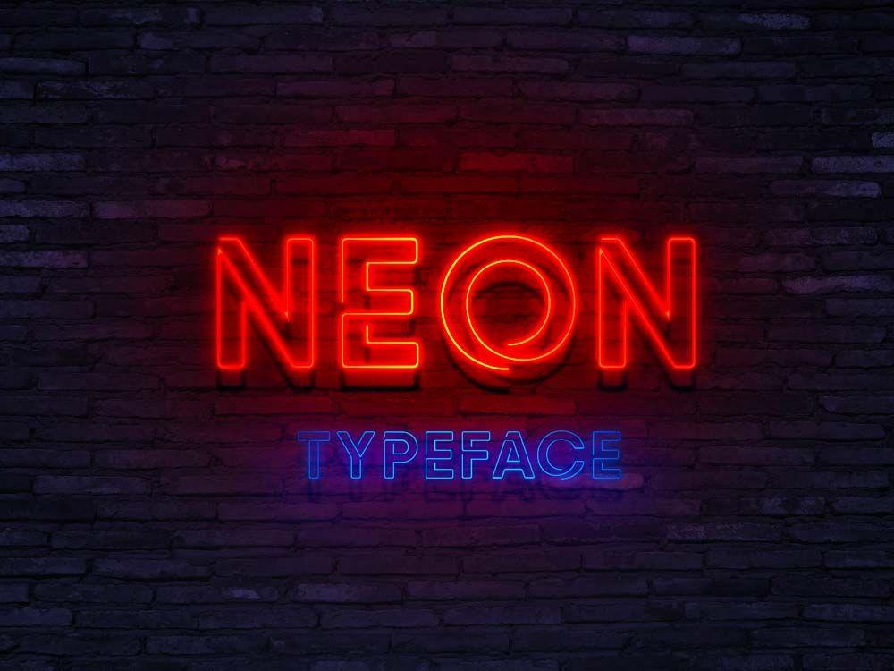Typographie Elle est gratuite et elle s'appelle « NEON