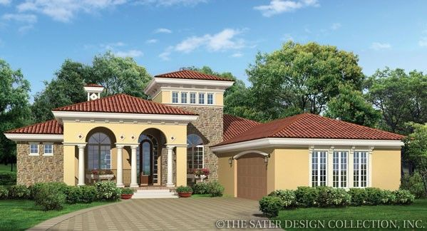 Casina rossa house plan mediterranean house plans and for Sater home designs