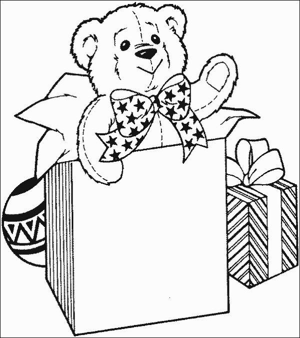 christmas coloring Christmas gifts coloring page, best free - best of coloring pages for a christmas tree