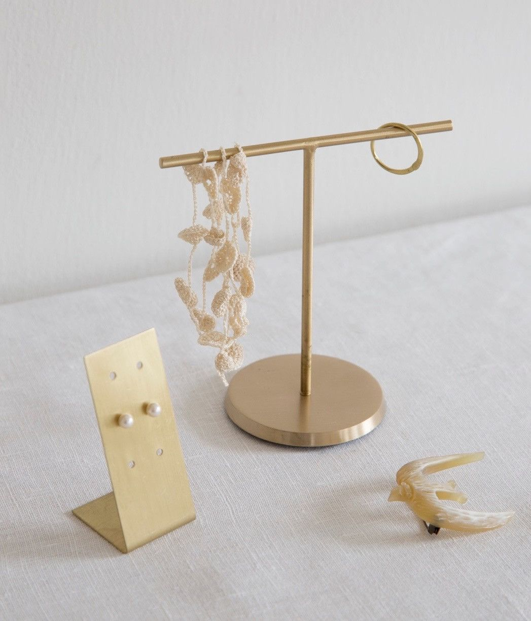 Brass Accessory Stand Small is part of Brass Home Accessories Beautiful - made in India wipe clean, polish if necessary IHC727S