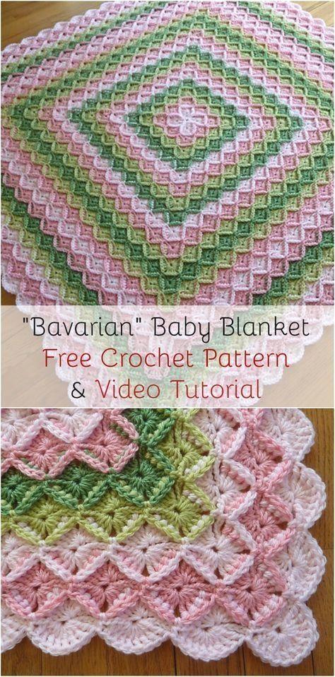 Bavarian Baby Blanket | Crochet It\'s My Thing | Pinterest