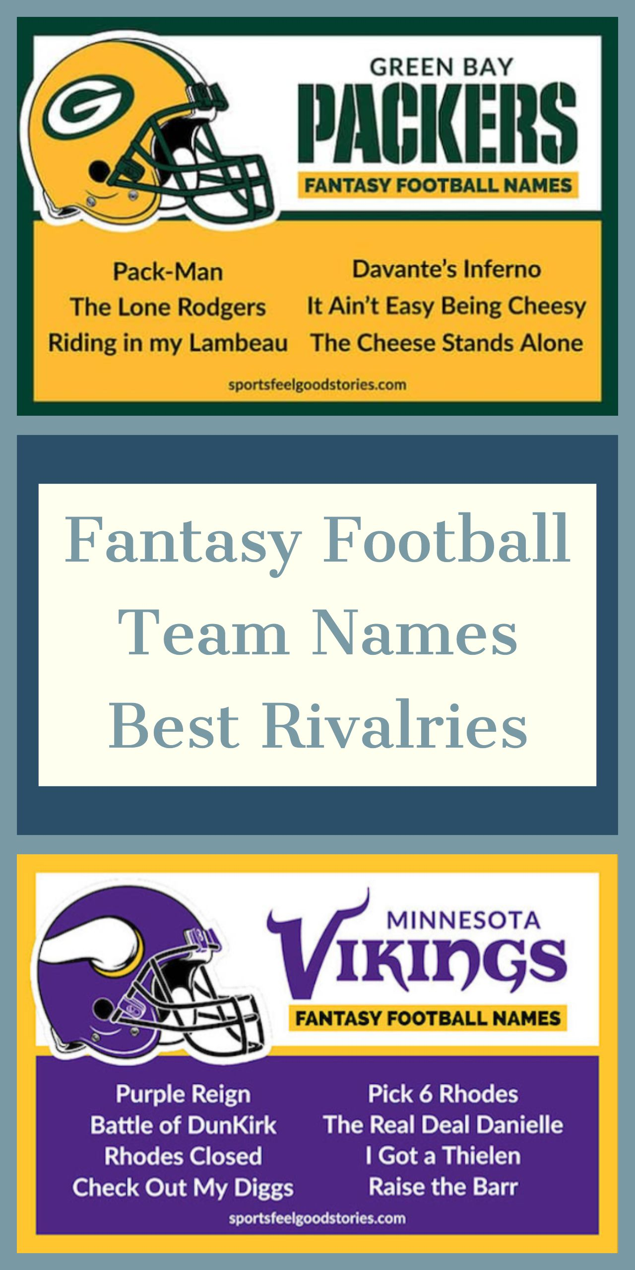 Best Fantasy Football Names Sorted By Team Fantasy Football Names Cool Fantasy Football Names Football Team Names