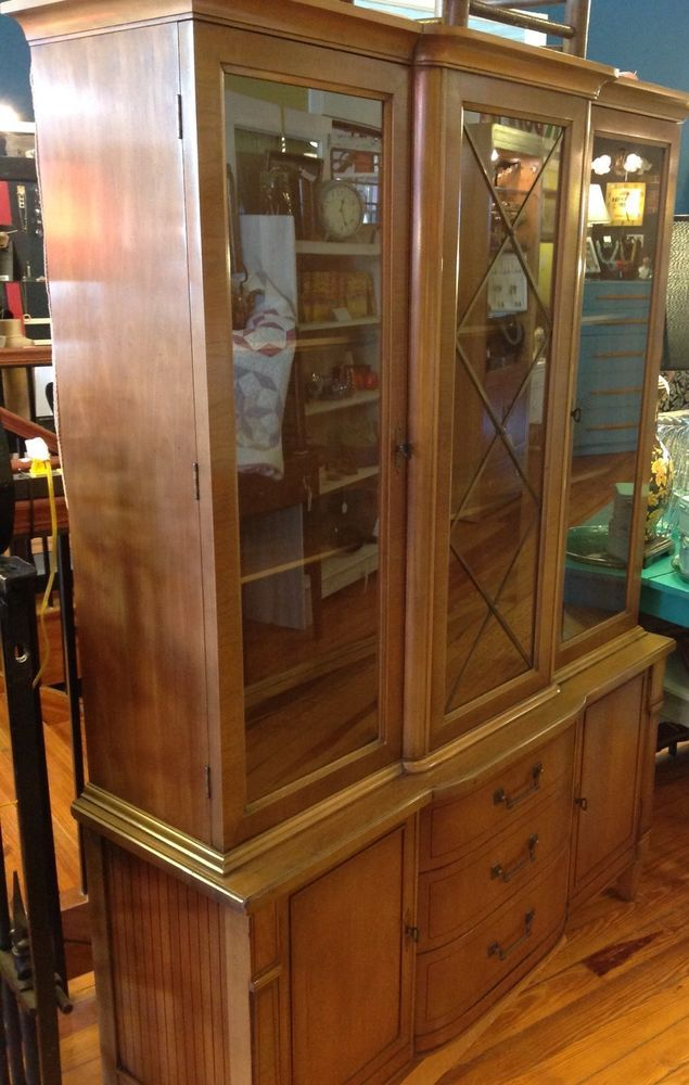 Details About French Provincial Solid Wood China Cabinet