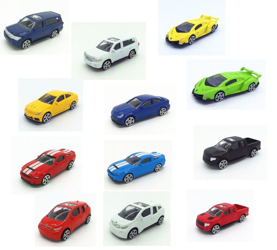 1: 64 7.5 cm modelli di varie marche di cars auto in lega auto materiale metallico scooter hornet x6 i8 mini golf laser vendite all'ingrosso