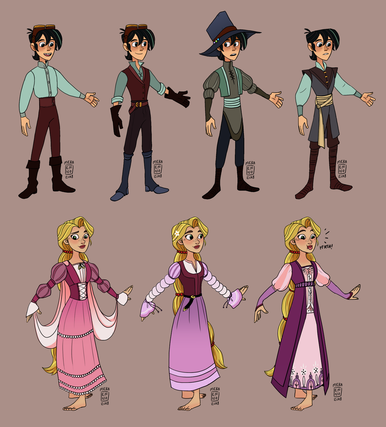 Varian And Rapunzel In Renaissance Clothing