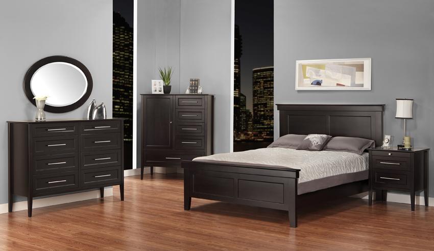 NEWTON Canadian Made Solid Wood Phillipe Bedroom Pecan