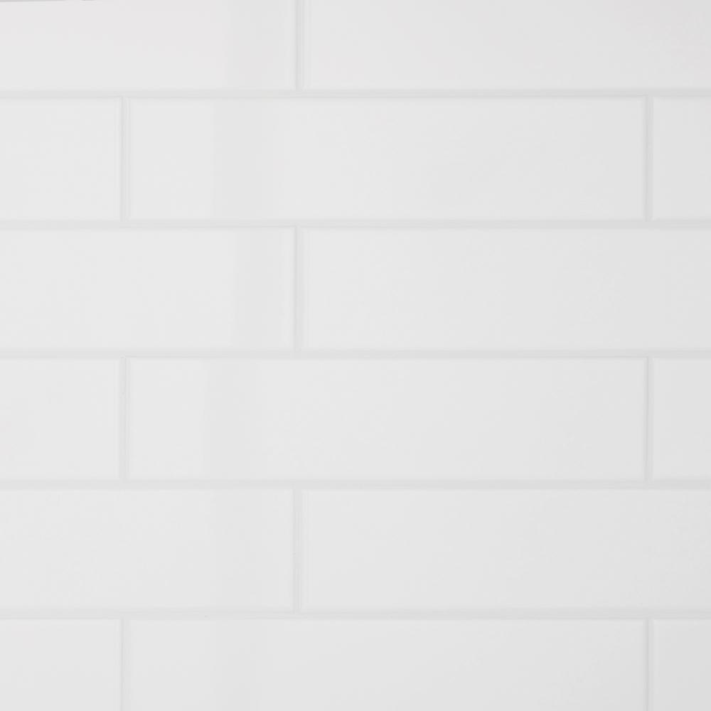 Daltile Restore Bright White 3 In X 12 In Ceramic Wall Tile 12 Sq Ft Case Re15312hd1p2 The Home Depot Ceramic Wall Tiles Daltile Wall Tiles