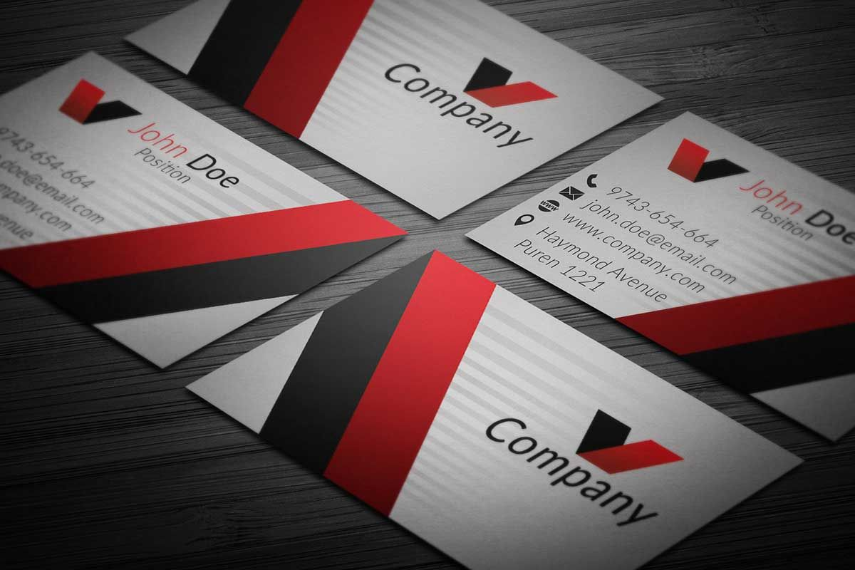 Elegant corporate business card template. This template is ...