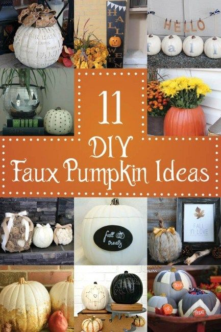 DIY 'Hello Fall' Pumpkin Banner and Faux Pumpkin Round-up | Dwell Beautiful