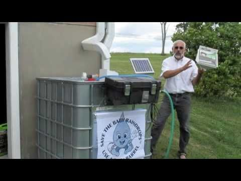 Solar Powered Rain Barrel Pump Kit Rain Barrel Solar Power Rain Water Collection