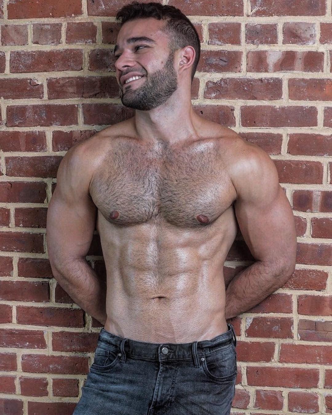 Hot hairy muscle men