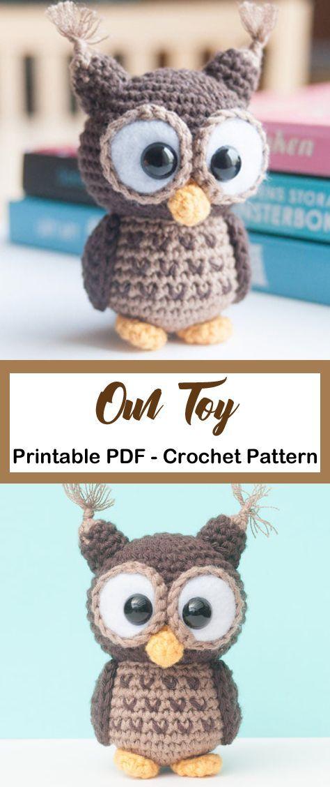 Make a cute owl. owl crochet pattern- crochet pattern pdf - amorecraftylife.com #crochet #crochetpattern #crochettoysanddolls
