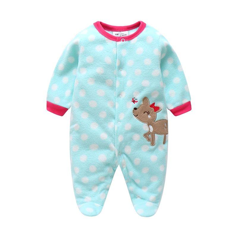 91dbb4bbd Unisex Baby Rompers Cartoon Animal Clothing Set Winter Girls Warm ...