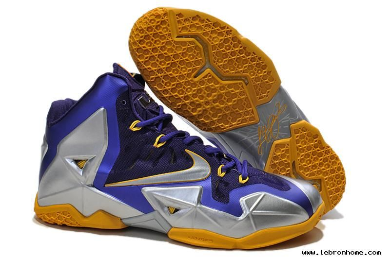Nike LeBron 11 Blue Silver Yellow 616175 265