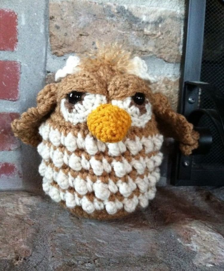 Crocheted Owl snuggle buddy found on etsy@ memawscountrycrafts