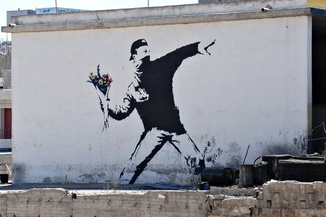 Banksy- Flower thrower