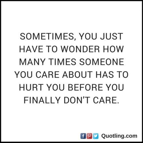 Sometimes, you just have to wonder how many times some | Hurt Quote
