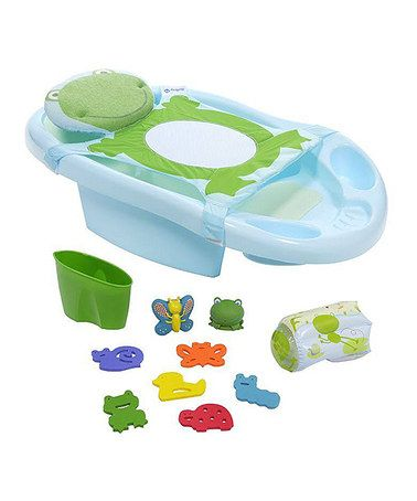 Green & Blue Fun Time Froggy Bath Station by Safety 1st #zulily #zulilyfinds
