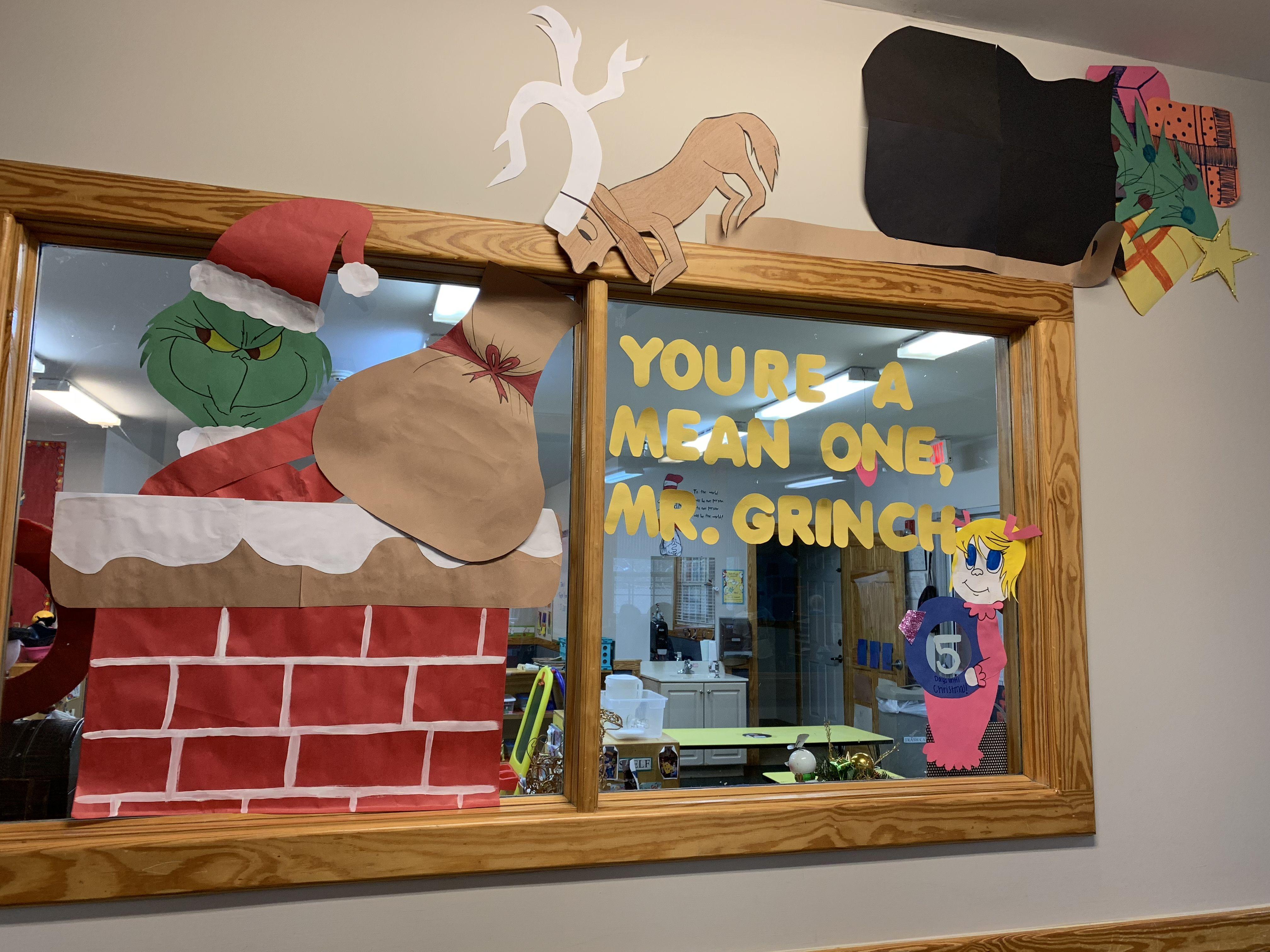 Grinch Classroomdecor Christmasdecor Art Drsuess